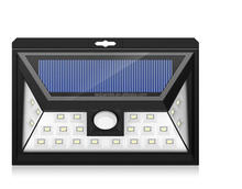 1 Year Warranty 24 led 3.5W Outdoor Waterproof Ip65 High Lumen Motion Sensor Led Solar Wall Light