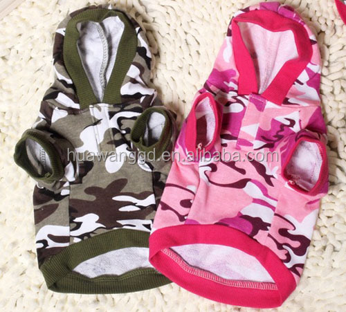2016 newest pet dogs accessories , popular pet dogs camo hoodies , fashion and cute dogs summer clothes