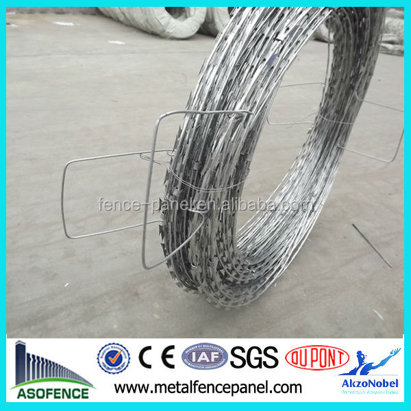 BT022 CBT60 high tensile galvanized crossed razor wire