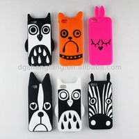 China fashion silicone embossed cell phone case for iphone 5 cover