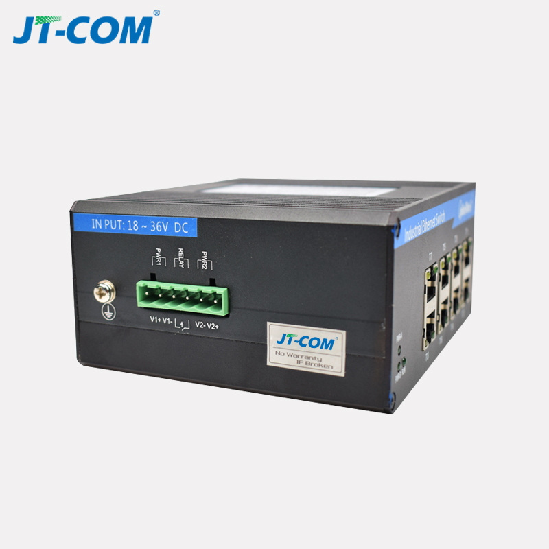 Smart 4 port 4 SFP slot gigabit industrial ethernet switch media converter
