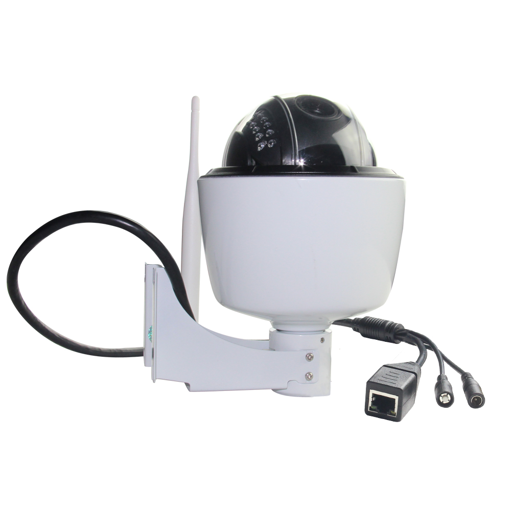 2016 Best Selling White Color 720P Outdoor Dome PTZ IP Camera Waterproof IP66