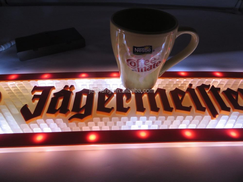 High Quality PVC LED night light bar mat with buttons