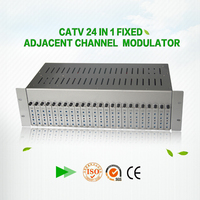 47-860Mhz SAW filtering 24 in 1 fixed catv rf modulator