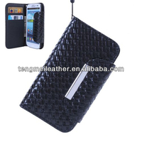 Black PU Leather Woven Wristlet Wallet Case Cover for Samsung Galaxy S3,Cover Case For Samsung S3