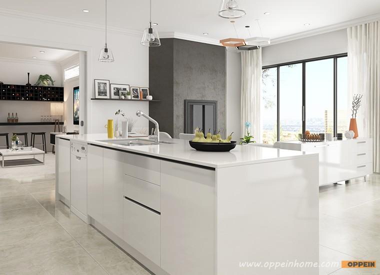 China Oppein Kitchen Lacquer White Kitchen Cabinet Buy