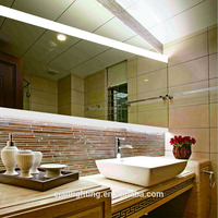 Fog Free Hotel Lighted Vanity Luxury Shower Shaving Wall Mirrors