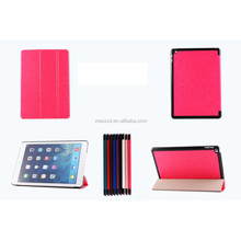 Crazy Horse Style Stand PU Leather Case For iPad 6/Air 2