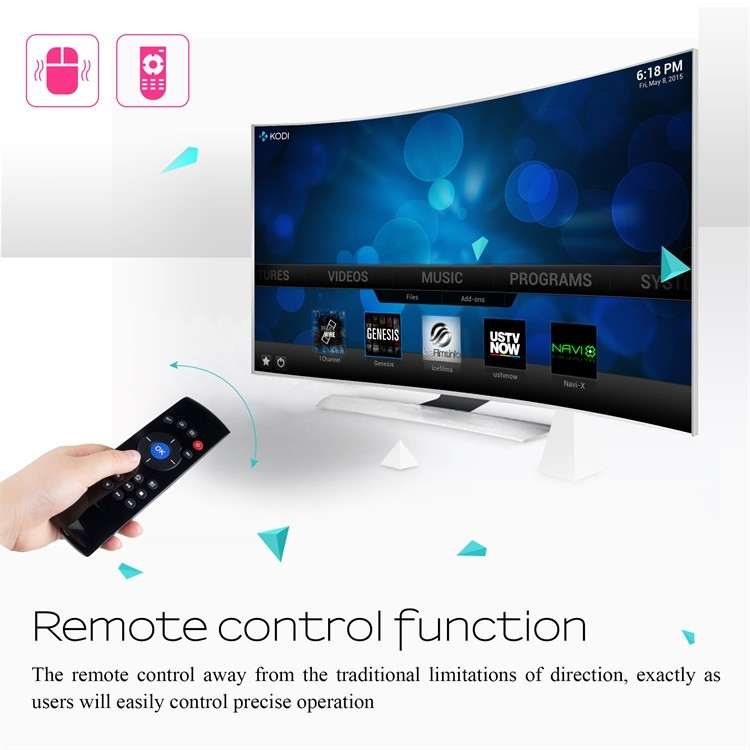 Fly Air Mouse Wireless Qwerty Keyboard Remote C2 2.4g air mouse for android tv box