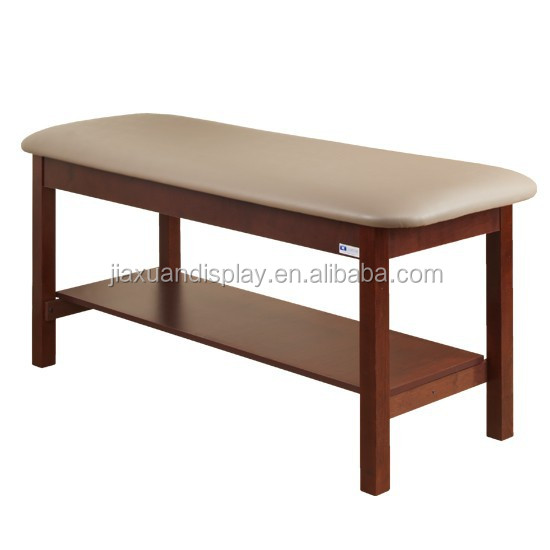 Wooden salon beauty treatment bed treatment couch massage for Beauty salon bed