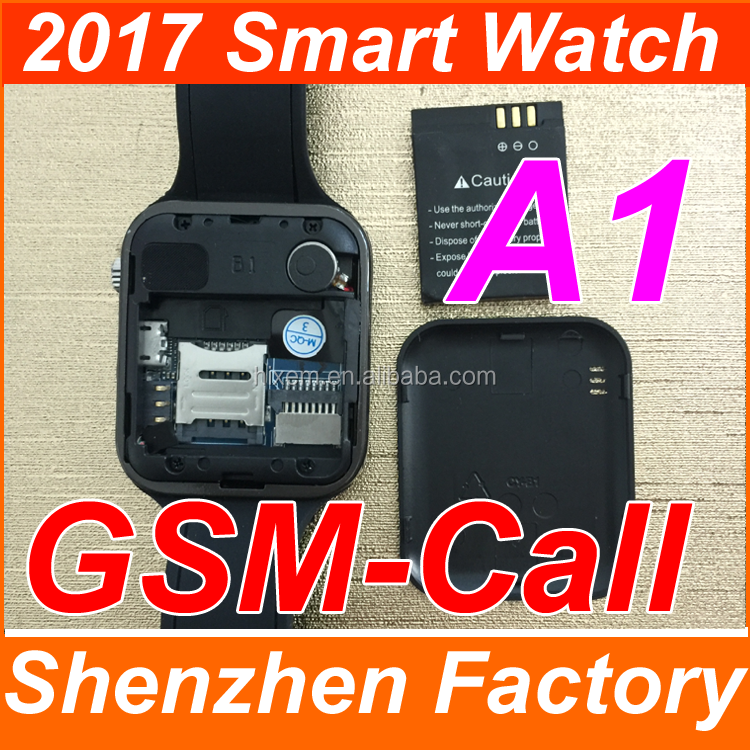 2017 Hot Sell SIM Card Slot Cheap Unlocked Cell Smart Watch Mobile Phone with camera bluetooth