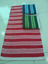 mix color promotion Jacquard 70*140cm cotton/polyester stripe beach/ bath stock towels china manufacturer