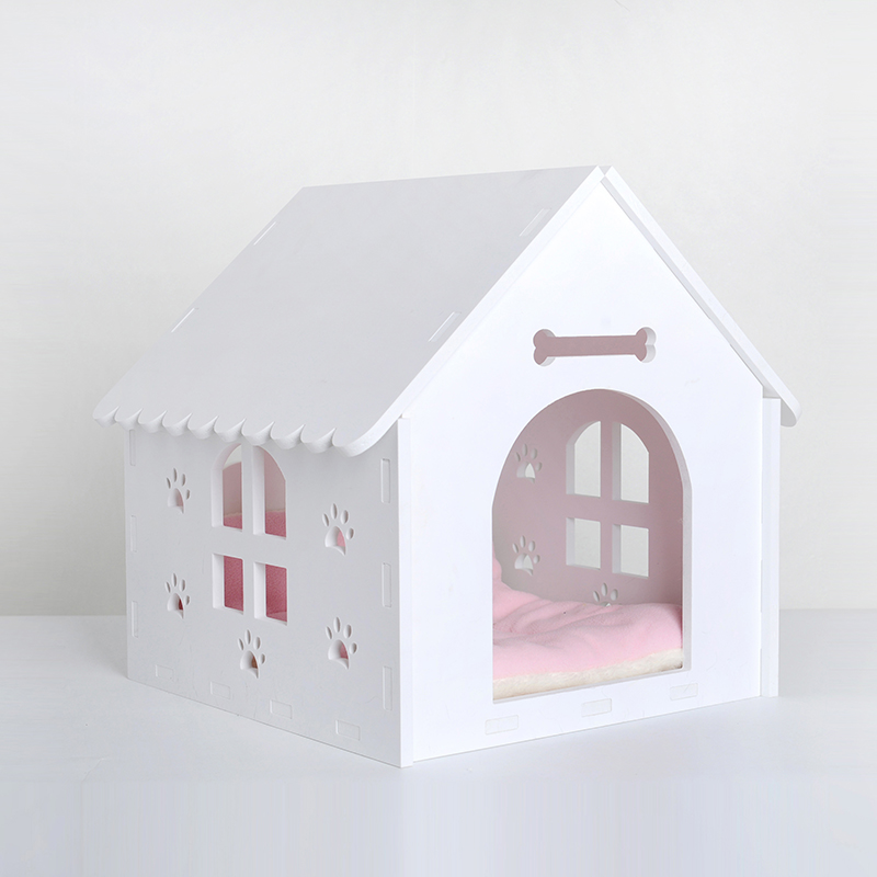low price low MOQ easy cleaning pet cat house box