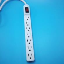 UL listed 7 outlets Slim Tap electric power strip