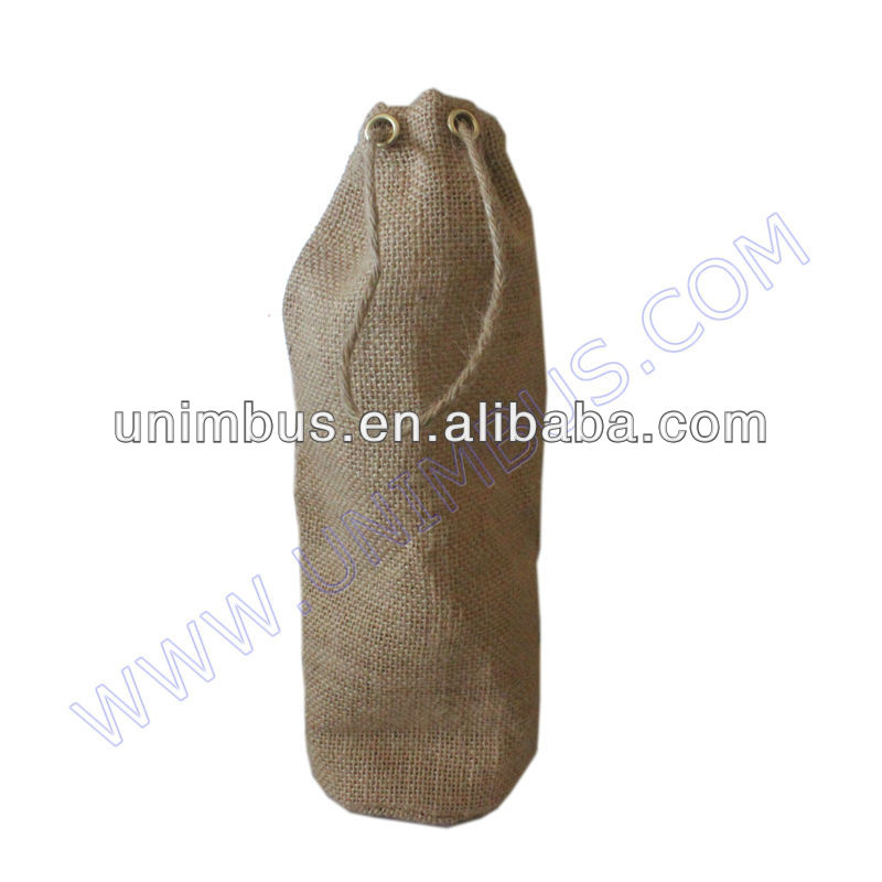 jute burlap wine bottle gift bag