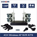 surveillance system 4ch wireless wifi nvr kit with 4 pcs p 2 p ip camera