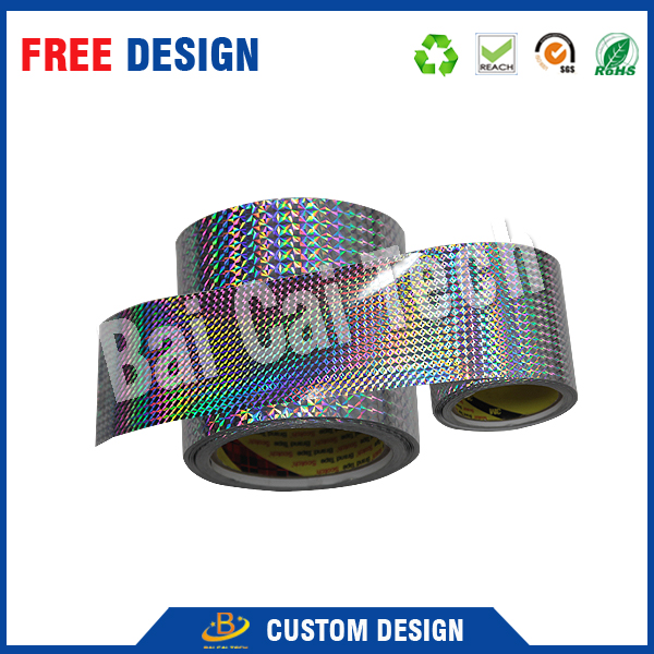 2016 High quality good quality rainbow gold silver self adhesive secure 2d hot stamping hologram roll