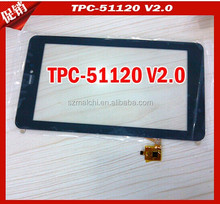 "7"" Original touch screen panel HY TPC-51120 V2.0 RXS"
