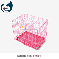 Cheaper export quality folding welded wire mesh dog cage