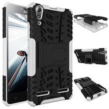 Hybrid Shockproof Kick Stand PC TPU Dazzle Phone Case Cover Case For Lenovo A6000
