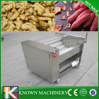 New design commercial high quality good appearance carrot brush roller cleaning machine