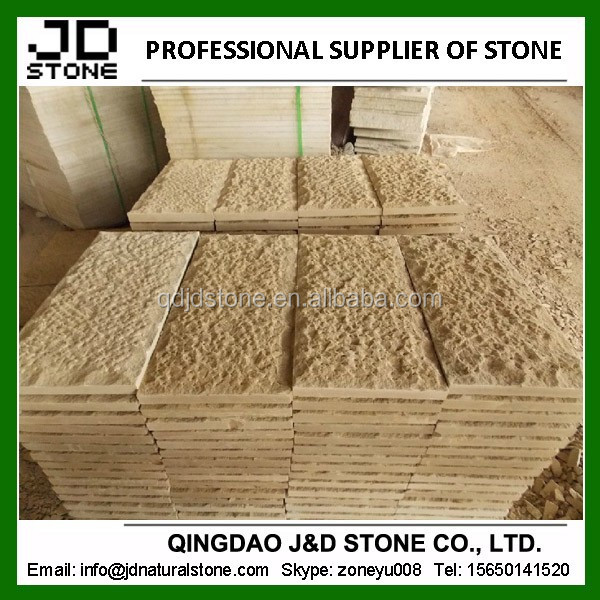 beige sandstone mushroom for wall cladding
