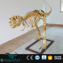OAV8152 jurassic dinosaur Replicated golden dinosaur skeleton