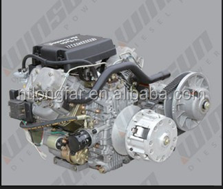 27HP air-cooled v-twin diesel engine driven CVT transmission and toyota gearbox mounted
