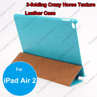 Tri Fold Slim Smart Magnetic Leather Case for iPad air 2,Tablets PC three-fold Smart cover