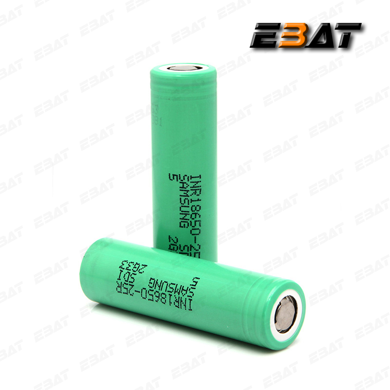 Rechargeable Flat Top Batteries high capacity INR18650-25R Battry 2500mAh 20A 3.7v