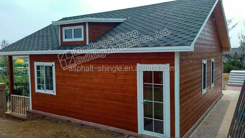 Hexagonal / 5 Tab Asphalt shingles sale for Prefab Houses , Villas , Sheds , Log houses