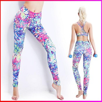 fashion tight sport fitness leggings running pants for women