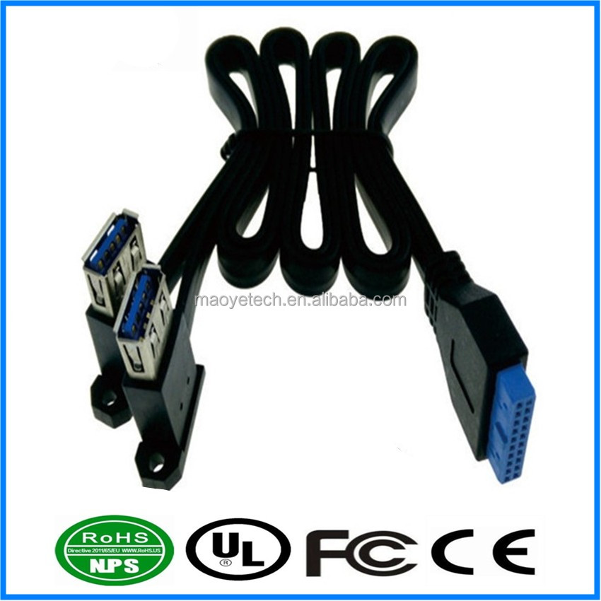 20pin to Dual Female USB 3.0 Splitter Cable