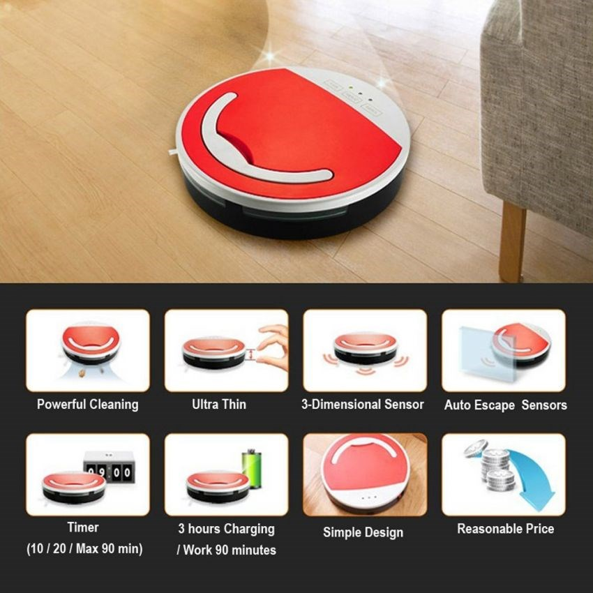 Robot floor scrubber, robot vacuum cleaner, robot floor sweeper