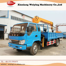 China electric lifting BMC truck mounted mobile 4*2 lorry loading crane