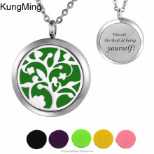 2017 Back Custom Engraved Design Essential Oil Diffuser 30mm Round Aromatherapy perfume locket