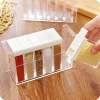Spice Container Jar Herb Seasoning Rack Storage Bottle Condiment Tower Carousel