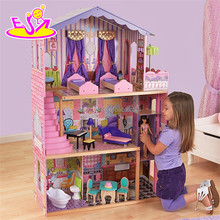 New design 16 pieces of furniture elegant dollhouse suite wooden 18 inch doll house for children W06A232