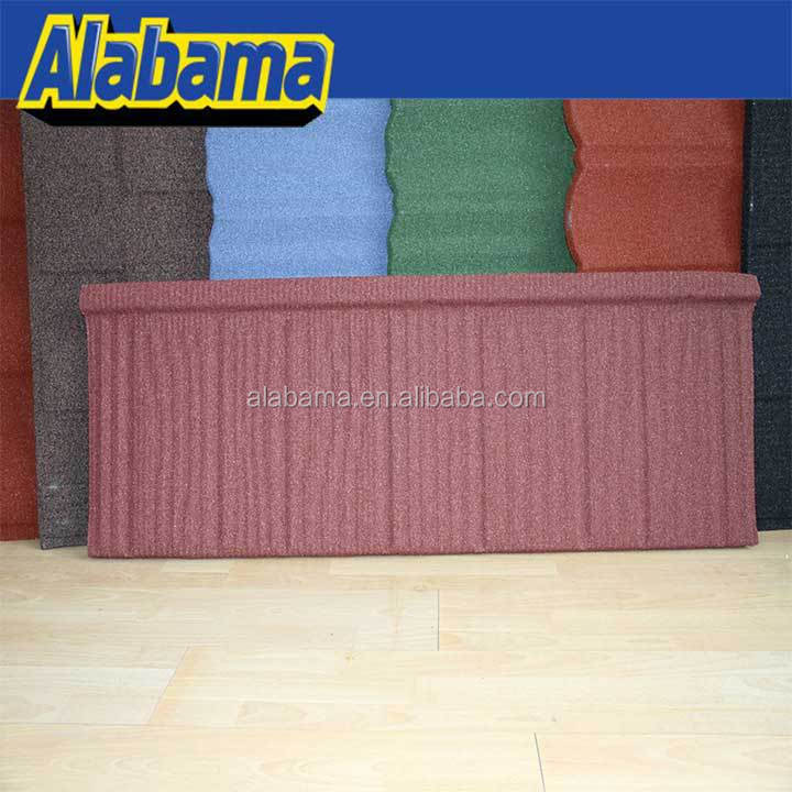 endure high and low temperature stone granules coated metal roof tile, africa metal roof, building materials company