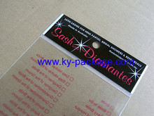 clear customized self adhesive opp polybag for Spring Festival red bag