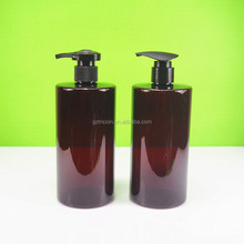 500ml amber plastic bottle with black new pump