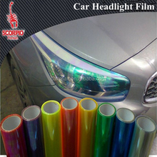 Hot Chameleon Colorful Blue Car Headlight Tail Fog Light Vinyl Tint Film