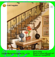 Factory Price Decorative Wrought Iron Indoor Stair Railings, Modern metal Indoor stair railings