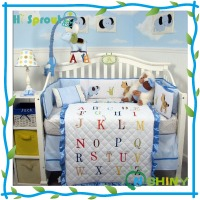 Good Breathable 100% Cotton Printed Baby Bedding Set