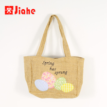 Jiahe factory wholesale easter decoration burlap easter bunny bag