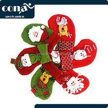 Cute Christmas Stockings Gloves 1 Pair For Kids Gift Cards Christmas Tree Decoration Socks Candy Bags