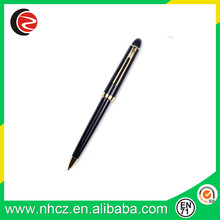 black metal ball pen with logo printed , gift use ball pen