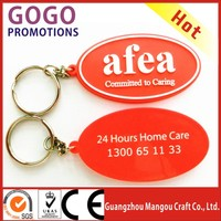 Factory Wholesale Eco Friendly Promotion custom soft pvc keychain, Cheap Customized Logo PVC Keychain/keyring/key ring