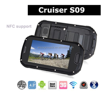 4.3inch cruiser rugged waterproof phone S09 with NFC