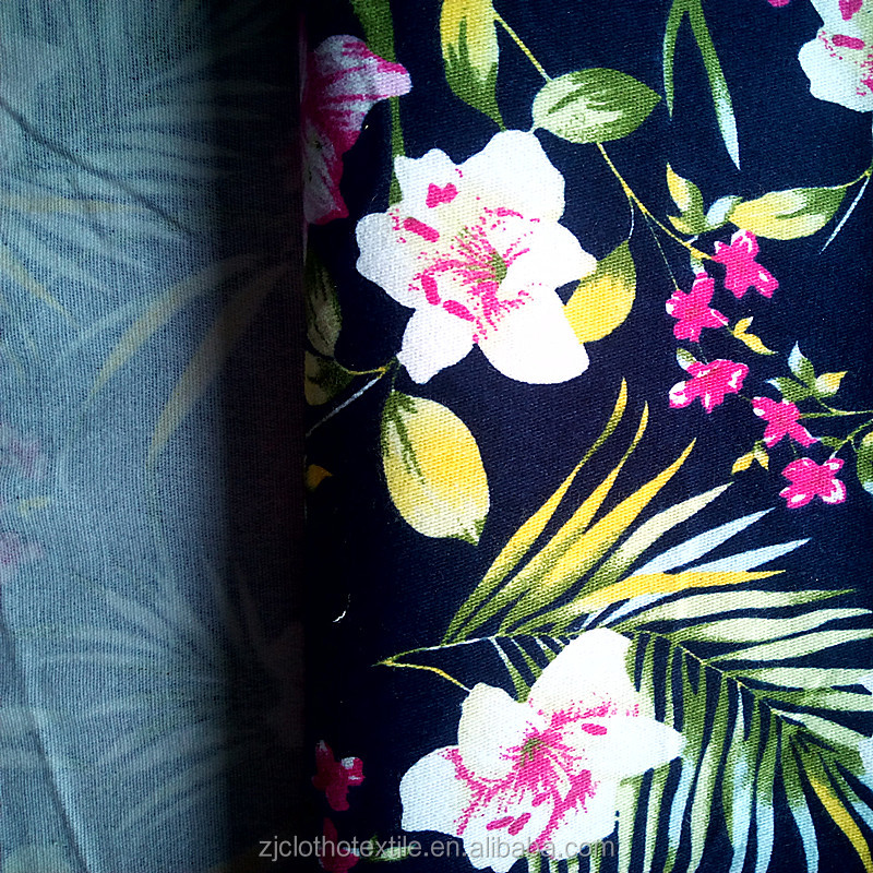 100% Cotton Printed Floral Twill Fabric Suppliers